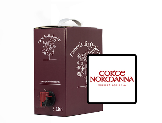 Vendita online vino in bag in box corte normanna 3 litri