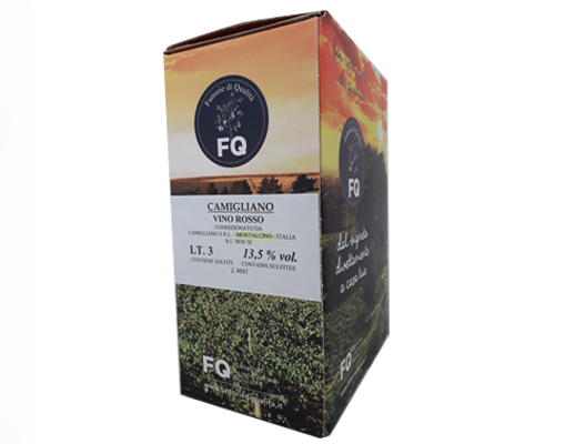BAG-IN-BOX RED WINE CAMIGLIANO 13.5% vol. – 3 LITRES <br> contains sulfites