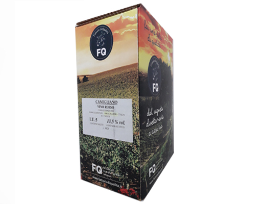BAG-IN-BOX RED WINE CAMIGLIANO 13.5% vol. – 5 LITRES <br> contains sulfites