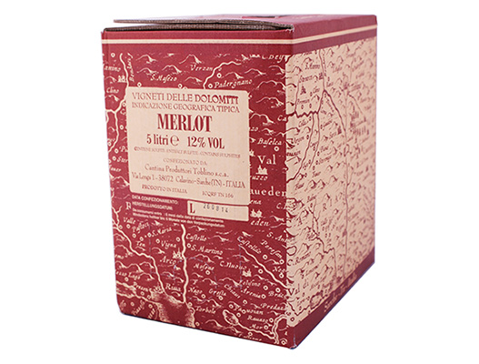 bag in box merlot cantina Toblino vendita online