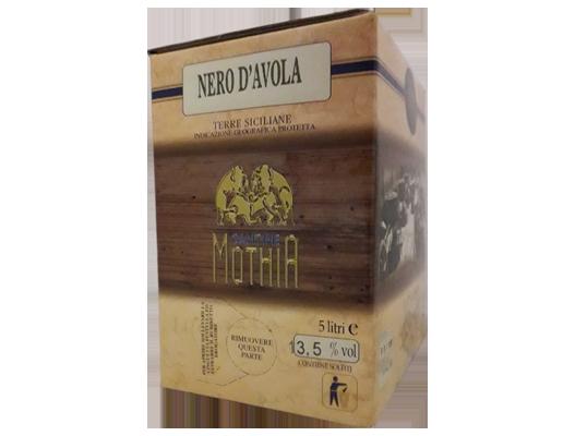 BAG IN BOX ROSSO NERO D'AVOLA IGP TERRE SICILIANE 13,5% – 5 LITRI contiene solfiti