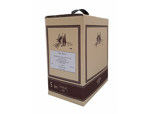 BAG-IN-BOX RED WINE TOSCANO IGT from BOLGHERI 13.5% – 5 LITRES  <br> contains sulfites