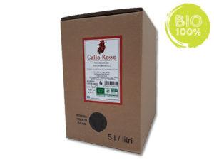 vino biologico in bag in box