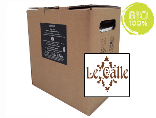 BAG-IN-BOX ORGANIC RED WINE TOSCANA IGT 13.5% – 5 LITRES <br> contains sulfites
