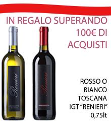 Promozione vendita vino bianco, bottiglia in regalo