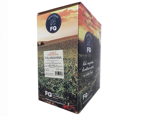 BAG-IN-BOX WHITE WINE FALANGHINA IGT BENEVENTANO 13% – 5 LITRES <br> contains sulfites
