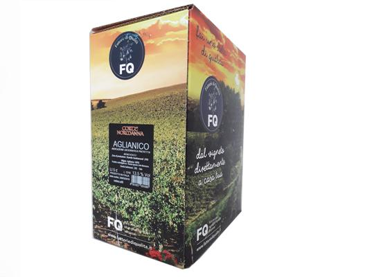 BAG IN BOX ROSSO AGLIANICO IGT BENEVENTANO 13,5% – 5 LITRI contiene solfiti