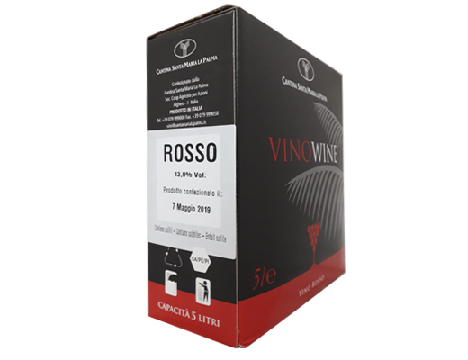 BAG-IN-BOX RED WINE SARDEGNA 13% SARDEGNA – 5 LITRES <br> contains sulfites