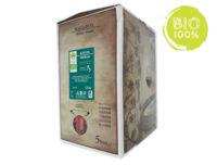 BAG-IN-BOX ORGANIC WHITE WINE TREBBIANO PGI RUBICONE 12% – 5 LITRES contains sulphites